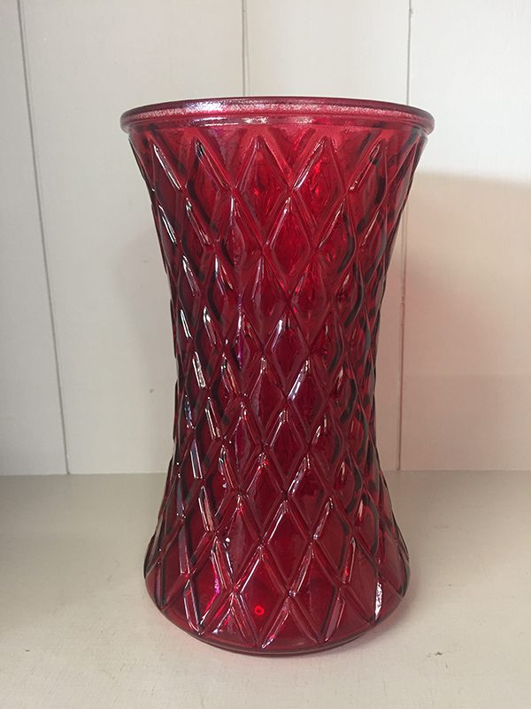 Red Diamond Vase - Theflowerden