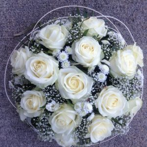 Funeral Posy In White